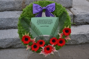 Wreath close up photo courtesy PW Slade