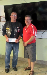 MMP YVES OUELLET WITH ROBERT._. DONATES $5000.00