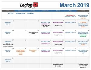 2019 02 26 March 2019 Calendar