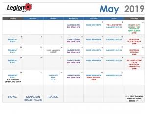 2019 04 20 May Calendar