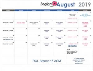 2019 08 05 August 2019 Calendar Amended STR